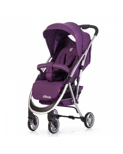 Коляска прогулочная CARRELLO Gloria CRL-8506 Ultra Violet в льне, резиновое колесо 86x50x106