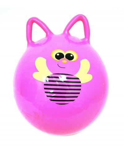 Мяч 50см роги BT-PB-0084 с пчелками 400г 4цв.ш.к./60/