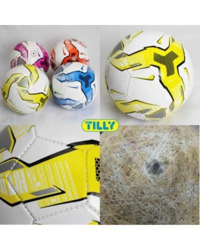 Мяч футбольный BT-FB-0153 PVC 290г 2-х слойный 4цв.ш.к./100/