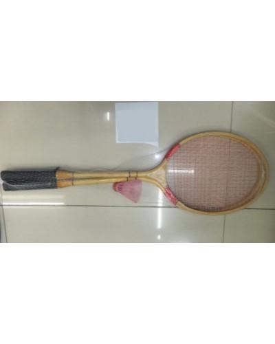 Бадминтон BT-BPS-0032 деревянный сетка /50/