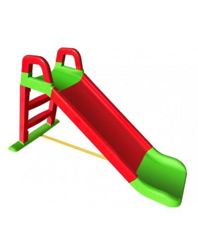 Детская горка для катания Doloni 0140/01 (Цвет красно-салатовый) 80х43х25
