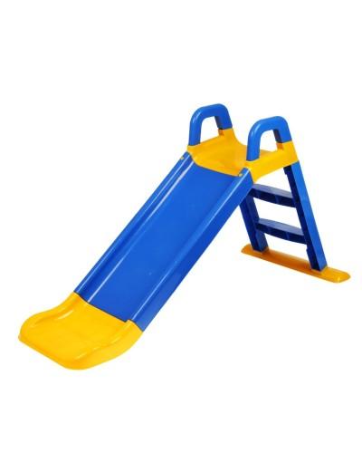 Детская горка для катания Doloni (Фламинго) 0140/03 (Цвет желто-синий) 80х43х25