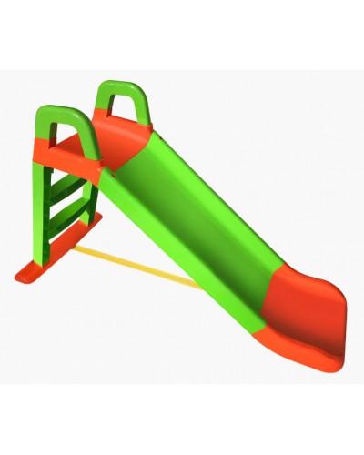 Детская горка для катания Doloni 0140/04 (Цвет салатово-оранжевый) 80х43х25