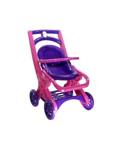 Коляска для кукол с шезлонгом Doloni 0122/02 (Цвет розово-фиолетовый)