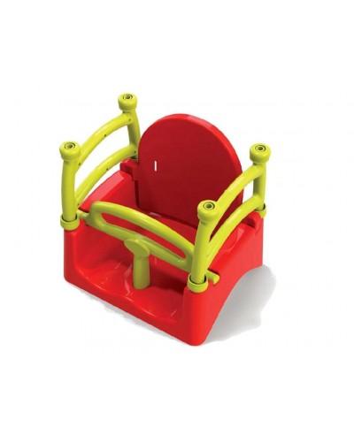 Подвесная качеля Doloni 0152/4 (Цвет желто-красный)