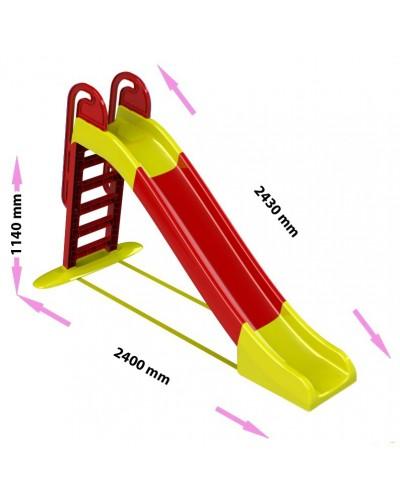 Детская горка для катания водяная Doloni 014550/3 (Цвет красно-желтый)