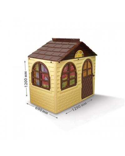 Детский игровой домик со шторками Doloni 02550/12 (Цвет Бежево-шоколадный)