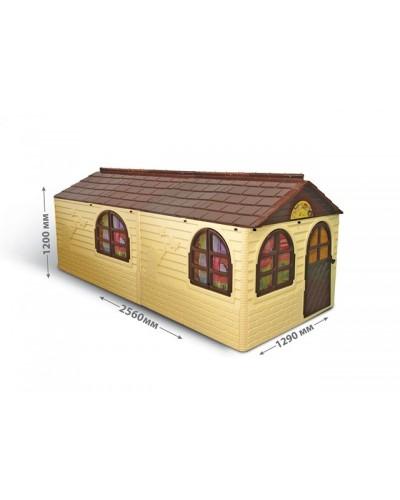 Детский игровой домик со шторками (большой) Doloni 02550/22 (Цвет Бежево-шоколадный)