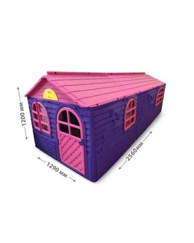 Детский игровой домик со шторками (большой) Doloni 02550/20 (Цвет Розово-фиолетовый)