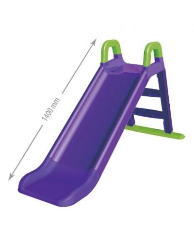 Детская горка для катания Doloni 0140/10 (Цвет зелено-фиолетовый) 80х43х25
