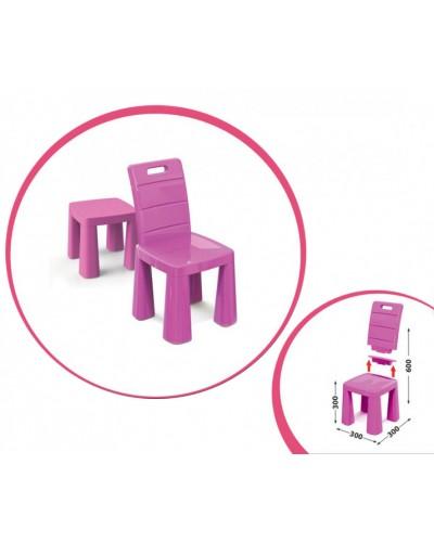 Дитячий стільчик-табурет 04690/3  Doloni рожевий Детский стульчик табурет розовый