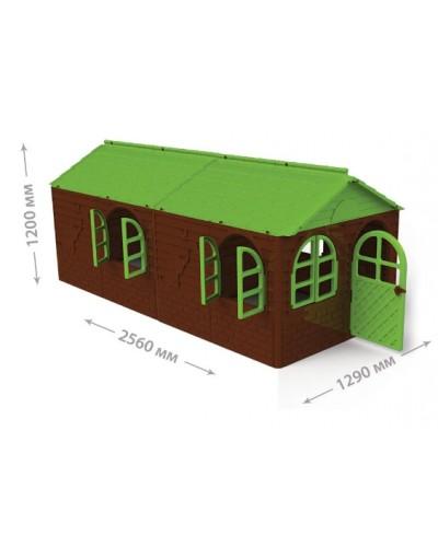 Будинок з шторками артикул 02550/24 Большой Домик детский игровой пластиковый со шторками ТМ Doloni