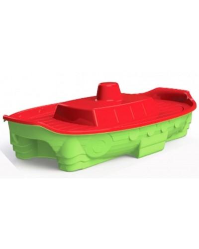 """Песочница / бассейн """"Корабль"""" Doloni 03355/3 (Цвет красно-салатовый)"""