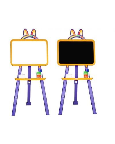 Доска для рисования (мольберт) магнитная, двухсторонняя Doloni 013777/4 (Цвет Желто-фиолетовый)