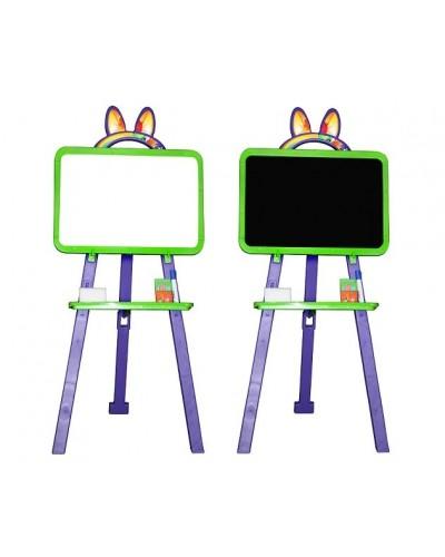 Доска для рисования (мольберт) магнитная, двухсторонняя Doloni 013777/6 (Цвет Салатово-фиолетовый)