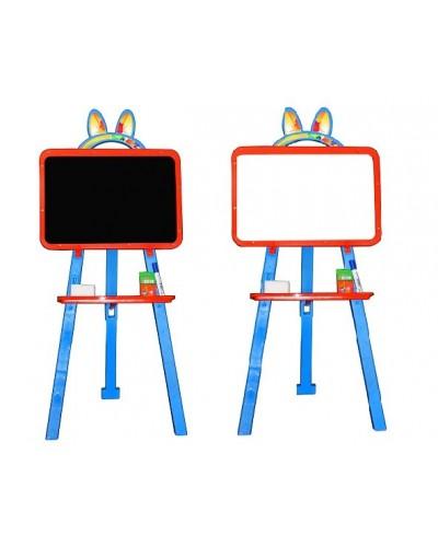 Доска для рисования (мольберт) магнитная, двухсторонняя Doloni 013777/7 (Цвет Оранжево-голубой)