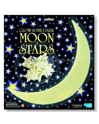 Месяц и звезды светящиеся в темноте, арт. 5215, 4М
