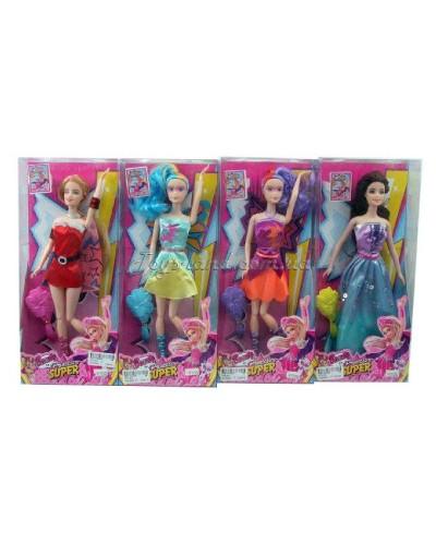 """Кукла """"Супергерой"""" YF11002 4 вида, ноги шарнир, расчёска, в кор. 14*4,5*33см"""