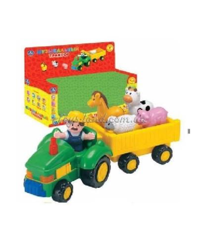 "Муз разв.игрушка ""Умка"" 1274-R, Трактор, батар., в короб."