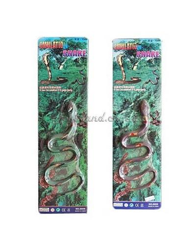 Животные резиновые-тянучки длина змеи 70 см, на планшетке,арт. 001-089