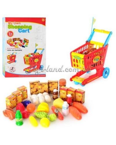 Тележка для супермаркета с продуктами (33 пред.) в коробке, арт. 6619, Китай