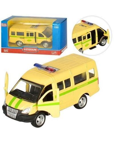 """Модель автобус PLAY SMART 6404F """"Автопарк"""" метал. инерц. откр. дв. кор.14,5*5,7*7"""
