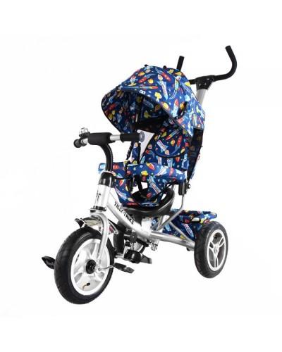 Велосипед трехколесный TILLY Trike T-351-10 БЕЛЫЙ с большими надувными колесами
