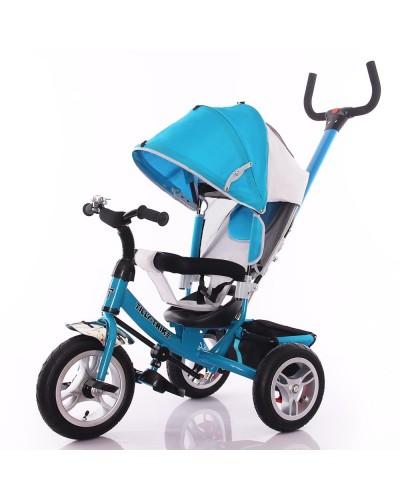 Велосипед трехколесный TILLY Trike T-361 Синий на большом надувном колесе