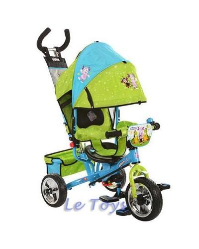 Велосипед MM 0156-01  ММ, 3 кол EVA Foam(задн20см,пер24см), на подшип, колясоч, гол-зел, ус дв руч,