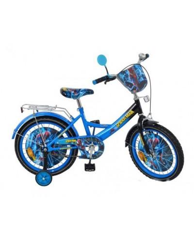 Велосипед детский мульт 20 д. P 2045 S-1  СП, звонок, зеркало, сине-черный, в кор-ке, 137-93-62см