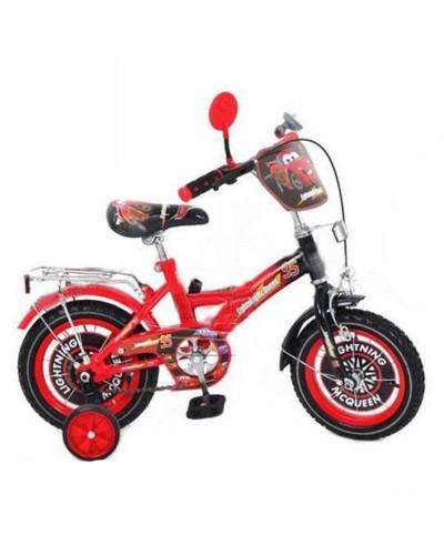 Велосипед детский мульт 20 д. P 2031 C-1 ТЧ, звонок, зеркало, красно-черный, в кор-ке,137-93-62см