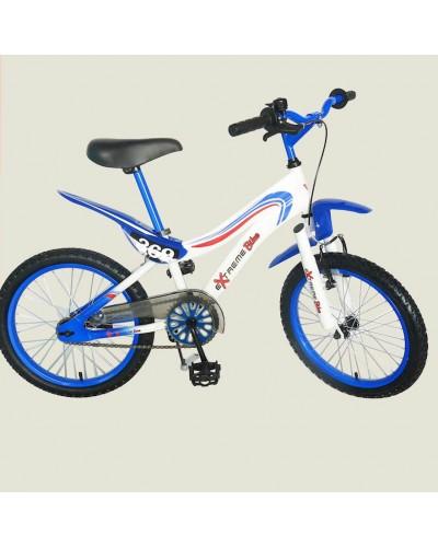 "Велосипед 2-х колес 18' 141801-B  с подножкой, пласт.крылом, каретка ""Американка"""