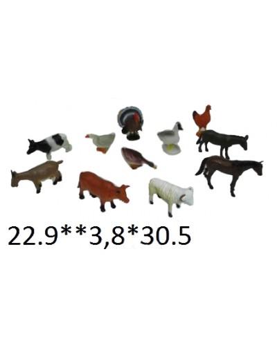 Домашние животные Гонконг HB9710/12 резин.  2в.12шт.в кул.30,5*4*23