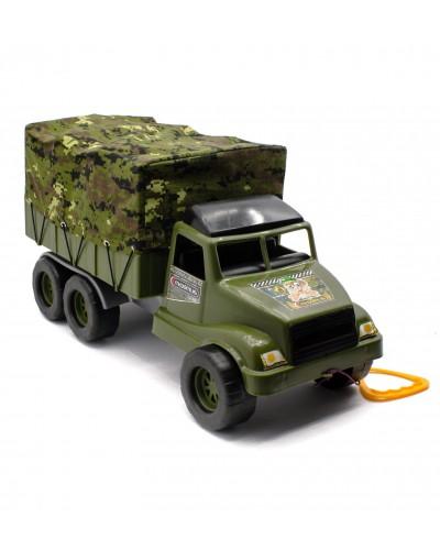 """Автомобіль """"Волант фургон війсковий"""" реал. тент на замочку з резинк. 52х28х23см."""
