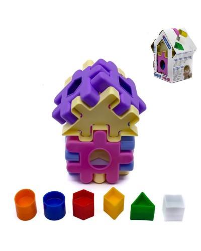 Сортер дім рожевий 16ел. 3Д конструктор 5337-М