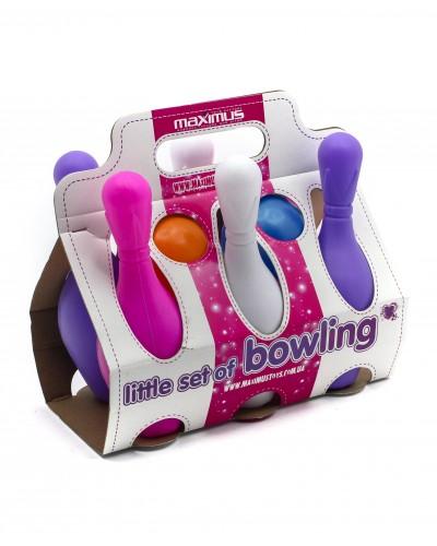 """Набір """"Боулінг великий рожевий"""" 6-кег.2-м'ячика"""