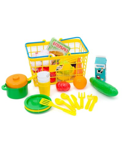 "Корзина М с фруктами и овощами ""Супермаркет"", арт. 379 в 5, Орион"