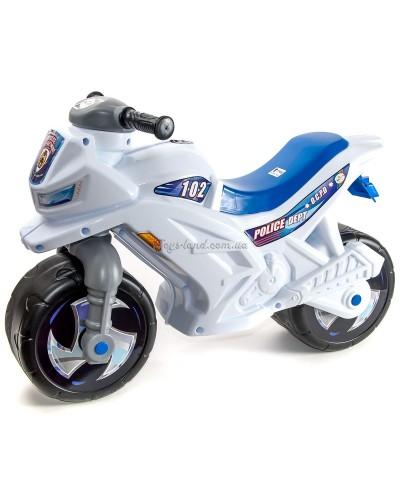 Мотоцикл 2-х колёсный с сигналом (белый), арт. 501в.4 БЕЛ, Орион