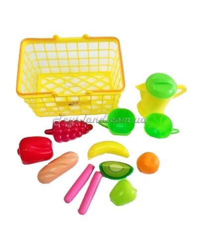Корзина М с фруктами, овощами и посудой (цвет в ассортимнте), арт. 423 в 2, Орион