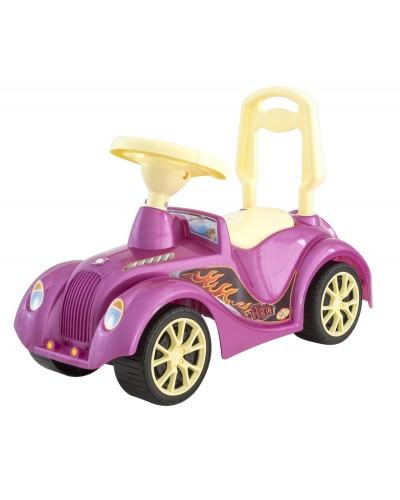 Машинка для катания  РЕТРО розовая