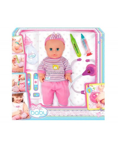 Кукла 32см с интерактивным набором врача; 3+