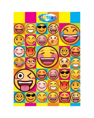 """Папка-куточок пласт. А4 Сentrum """"Emojidex"""" L-тип 0,18мм 87015"""