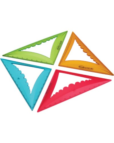 Трикутник пласт. 45% 10см. Centrum об'ємн. кольори в асорт. 83541