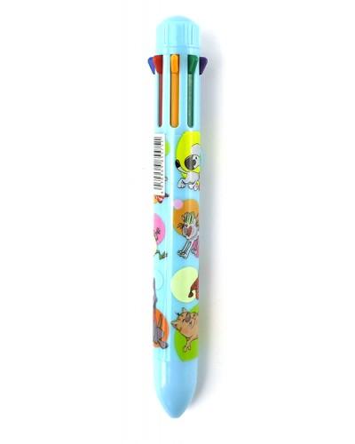 Ручка кульк. авт. Сentrum Crazy Pets 8-кольор. 0,7мм 855751 фасов.