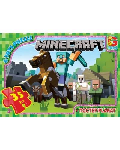 """Пазлы """"Minecraft"""" (Майнкрафт), 35 ел"""