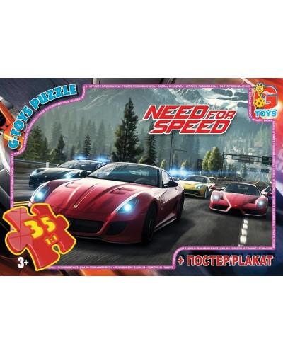 "Пазли ТМ ""G-Toys"" із серії ""Need for Speed"" (Жага Швидкості), 35 елементів"