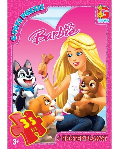 """Пазли ТМ """"G-Toys"""" із серії """"Barbie"""", 35 елементів"""