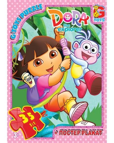 """Пазли ТМ """"G-Toys"""" із серії """"Дора"""", 35 ел."""