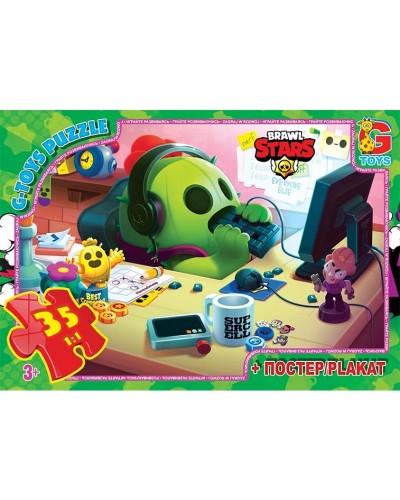 "Пазли ТМ ""G-Toys"" із серії  ""Brawl Stars"" (Бравл Старс), 35 ел. BS364"