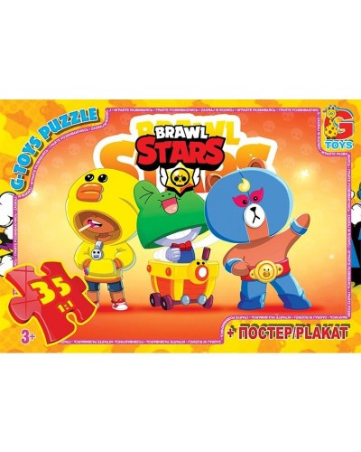 "Пазли ТМ ""G-Toys"" із серії  ""Brawl Stars"" (Бравл Старс), 35 ел. BS366"